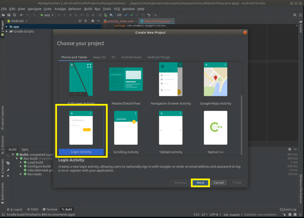 How to Create First project in Android Studio  - PHEONIX SOLUTIONS