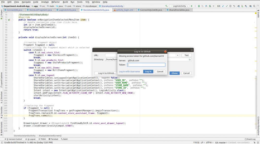 How to add a project on android studio from GitHub - PHEONIX