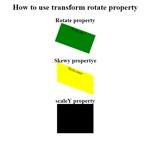 HOW TO USE TRANSFORM PROPERTY IN CSS - PHEONIX SOLUTIONS